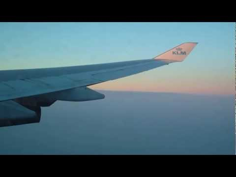 KLM Boeing 747-400.from paramaribo to amsterdam.