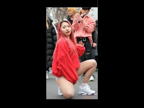 20180211 댄스팀 다이아나 지윤 직캠 [Lip & Hip] 홍대 버스킹 [4K]