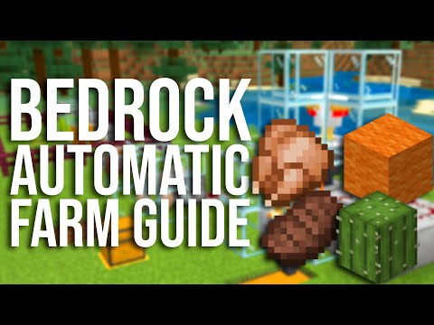 Simple And Essential Automatic Farms For Minecraft Bedrock (MCPE, Xbox, PS4, Switch, MCBE, Etc)