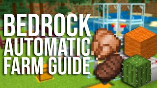 Simple and Essential Autoṁatic Farms for Minecraft Bedrock (MCPE, Xbox, PS4, Switch, MCBE, etc)