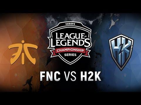 FNC vs. H2K  - Week 1 Game 8   EU LCS Spring Split    Fnatic vs. H2k-Gaming (2018)