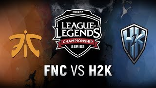 FNC vs. H2K  - Week 1 Game 8 | EU LCS Spring Split |  Fnatic vs. H2k-Gaming (2018)