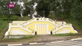 На два дня раньше положенного срока начался ремонт Театральной лестницы в Нижнем Новгороде