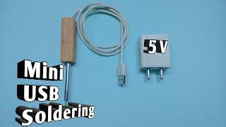 Soldering | DIY Mini USB Soldering | How to Make Soldering Iron