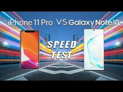 IPhone 11 Pro Vs Samsung Galaxy Note 10+ SPEED TEST