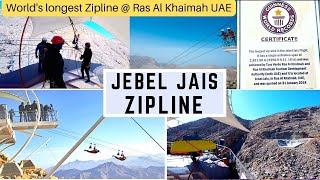 ZIPLINE - RAS AL KHAIMAH UAE   WORLD