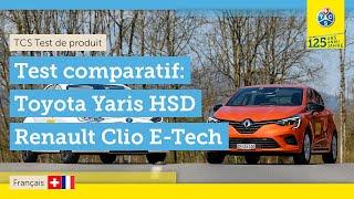 Comparatif de deux citadines hybrides électrique   Toyota Yaris HSD vs Renault Clio E-Tech (2021)