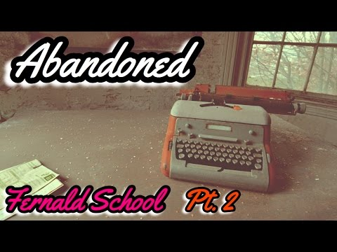 Abandoned school w/ beautiful fireplaces & Vintage typewriters (Fernald School in MA Pt.2) -#80