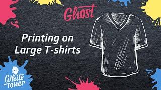 Print large T Shirts with White Toner