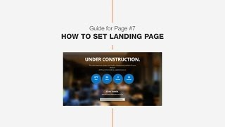 Guide #6: How to set Landing page - DW Page one page WordPress theme