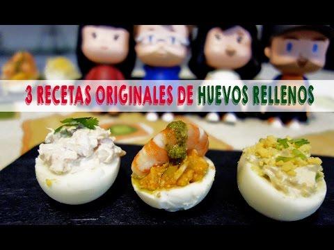 3 recetas de huevos rellenos muy originales   Ideas de aperitivos fáciles   Receta SOS