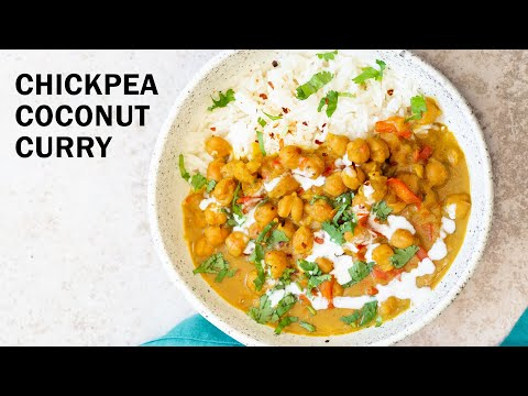 CHICKPEA COCONUT CURRY  – Instant Pot No Tomato No Oil   Vegan Richa Recipes