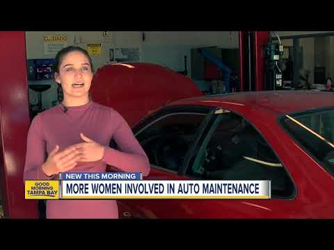 More Tampa Bay area women are becoming auto technicians