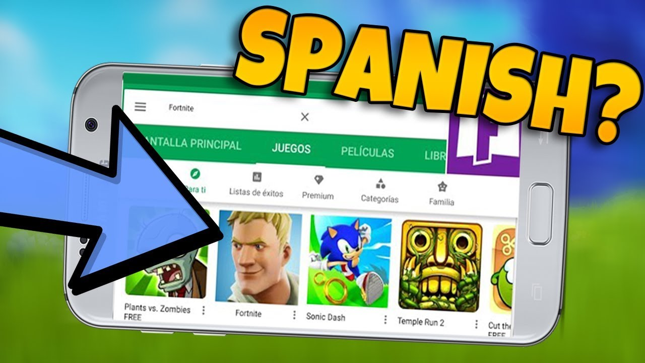 Fortnite Android Fortnite Mobile Is Out In Spain Epic