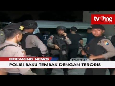 [BREAKING NEWS] Densus Baku Tembak Dengan Teroris di Manukan Kulon, Surabaya