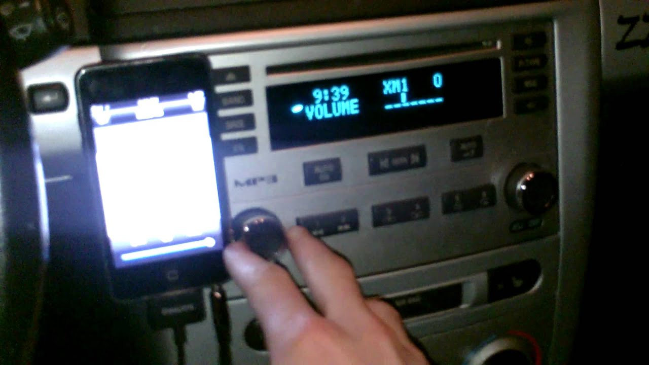 cobalt iPod hookup with stock head unit without AUX ...