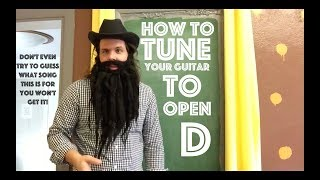 guitar lesson: how to tune your guitar to 'open d'