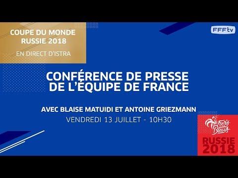 Équipe de France : le point presse de Matuidi et Griezmann en replay (vendredi 13 juillet)