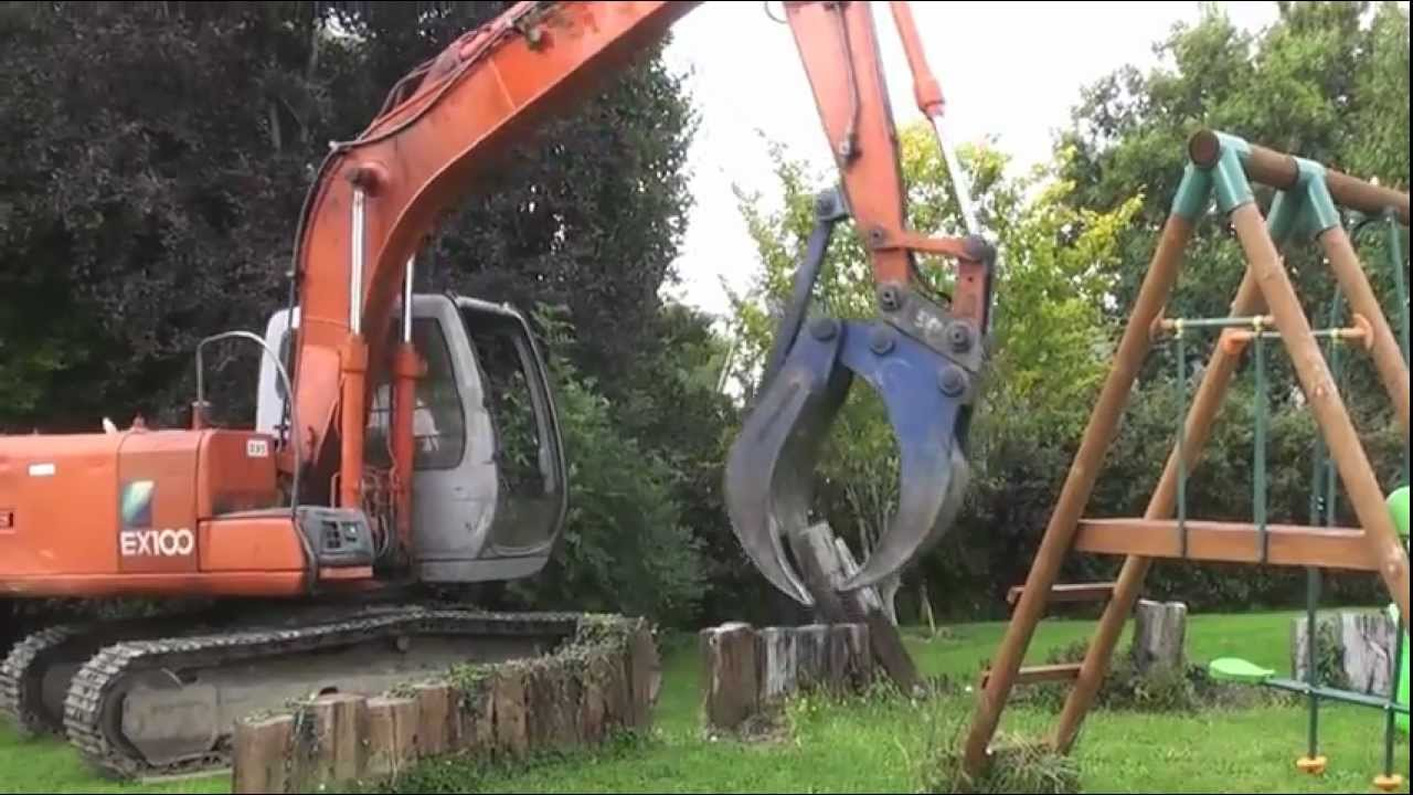 Diggers at work - YouTube