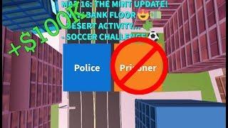 Roblox Jailbreak 100k Cash As Cop Only Challenge!!