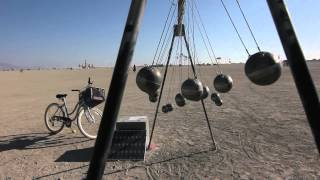 Burning Man Newton's Cradle