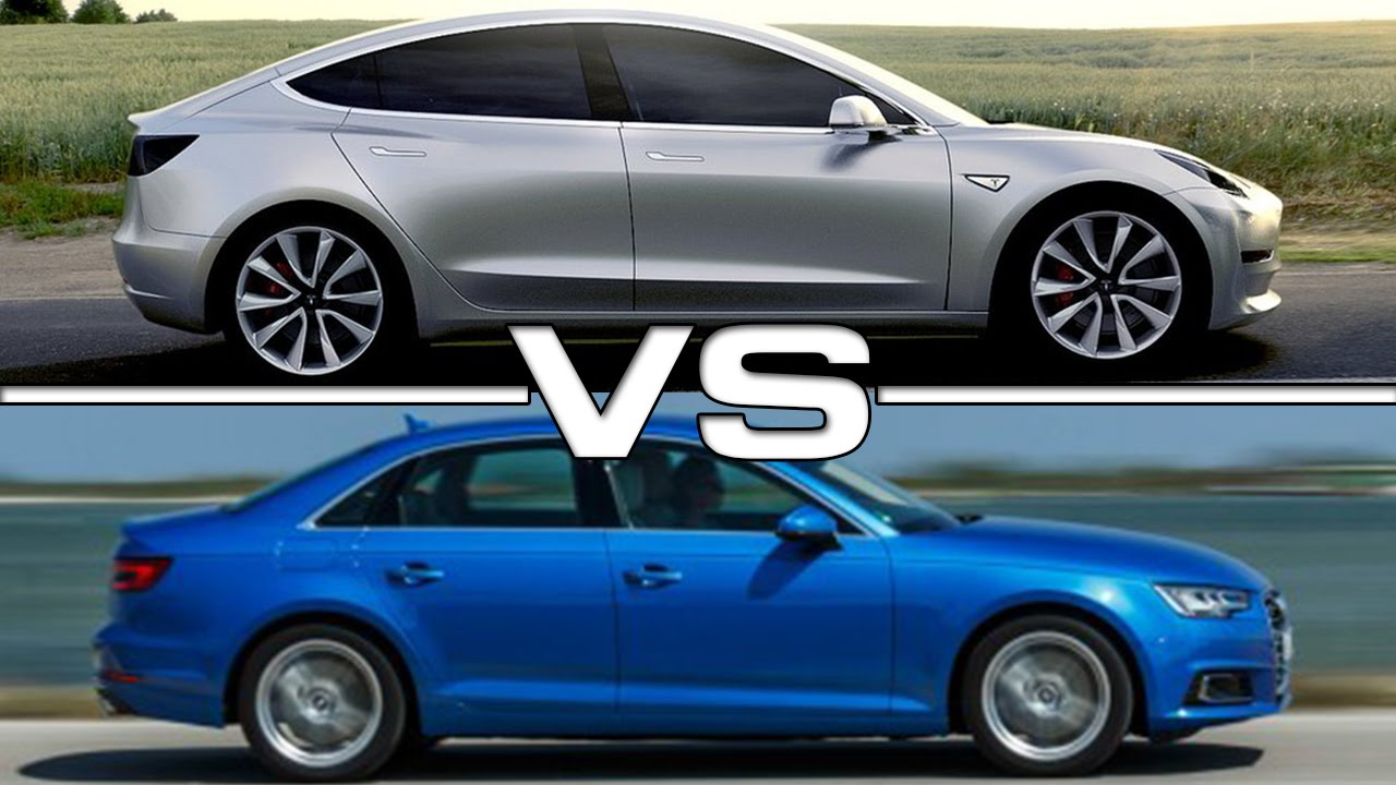 tesla model 3 vs audi a4 youtube. Black Bedroom Furniture Sets. Home Design Ideas