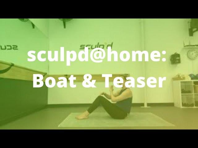 sculpd@home: Boat & Teaser