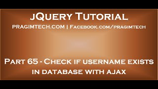 Check if username exists in database with ajax
