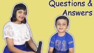 Questions and Answers Q& A Kids Interview Aayu and Pihu Show