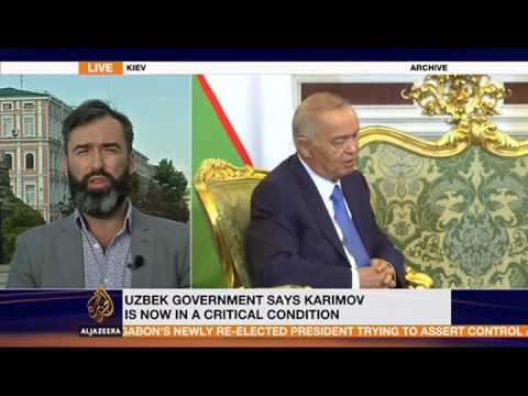 """Chronicle of Uzbek President's Death Foretold."" Peter Zalmayev (Залмаев), Al Jazeera, Sept 2"