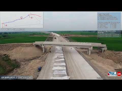 Video Udara Pembangunan Paket 2 Ruas Ngawi Kertosono