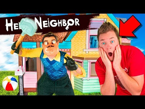 Hello Neighbour IN REAL LIFE!! Box FORT ESCAPE Room (HIDE AND SEEK CHALLENGE)
