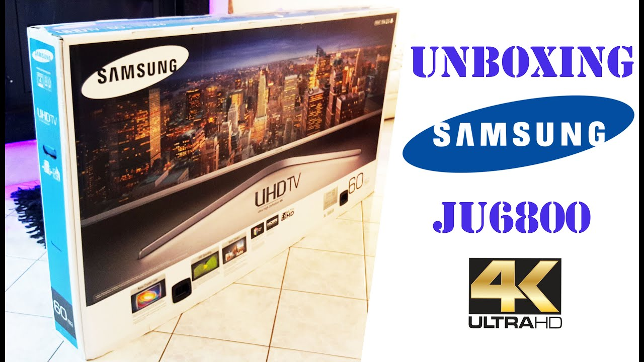 unboxing samsung ju6800 60 39 39 4k uhd smart tv youtube. Black Bedroom Furniture Sets. Home Design Ideas