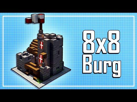 Schöne Kleine 8x8 Burg In Minecraft Mittelalter Bauen 🏰 8x8 Burg In Minecraft Bauen