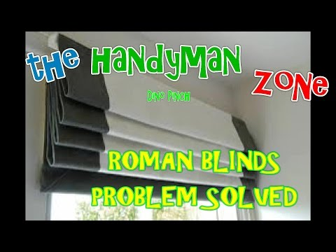 ROMAN SHADES (pleated blind) problem SOLVED !