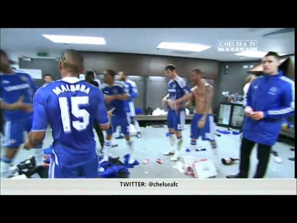 Download Chelsea 2012 FA Cup Celebrations (changing room)