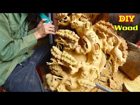 Amazing Create A Dragon From Tree Wooden   100% Handmade Furniture