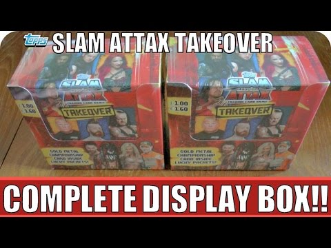 COMPLETE BOOSTER BOX | Topps WWE SLAM ATTAX TAKEOVER™ Official Trading Card Game | UNBOXING