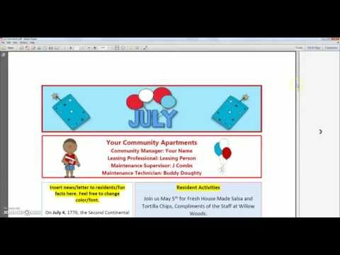 How to Edit and Change Monthly Newsletter Template