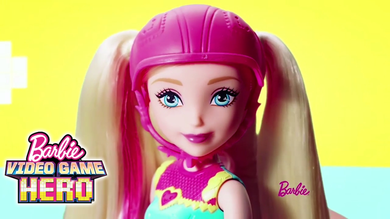 Barbie Video Game Hero Light Up Skates Doll And Match Game