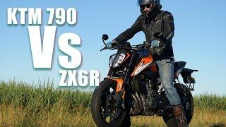 KTM 790 Duke vs ZX6R