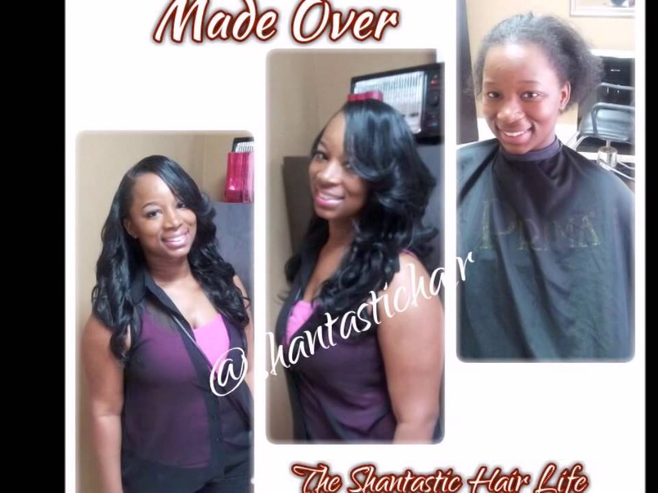 Extension Makeover Sew In Weave Install Before After Youtube