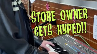 The store owners get hyped when I start playing 80s music