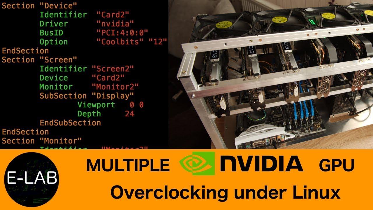 nvidia overclocking tool linux