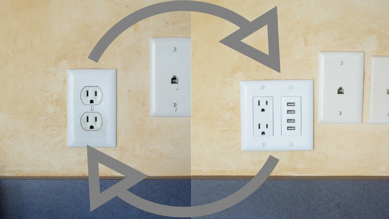 Installing Usb Power Outlet Wall Charger Instructions Youtube Hubbell Wiring Diagram