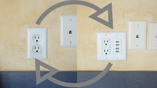 installing usb power outlet wall charger instructions