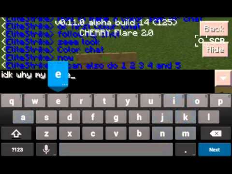 Minecraft Pe How To Make A Color Sign And Chat Youtube