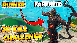 30 KILL CHALLENGE IN FORTNITE | UNLOCK RUINS SKINNET