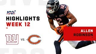 Allen Robinson Bears Down on Giants w/ 131 Yds & 1 TD | NFL 2019 Highlights