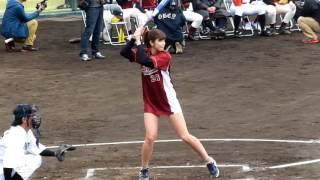 稲村亜美「神スイング」でヒット@豊中ローズ球場公開収録